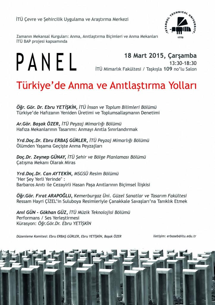 Panel_ Türkiye'de Anma ve Anıtlaştırma Yolları